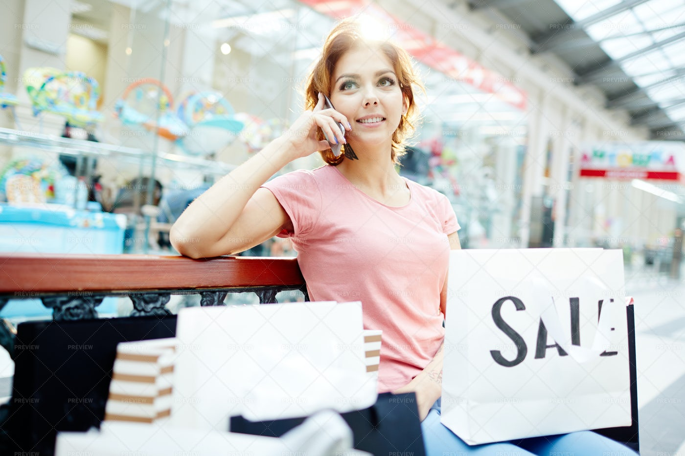 Call In The Mall: Stock Photos