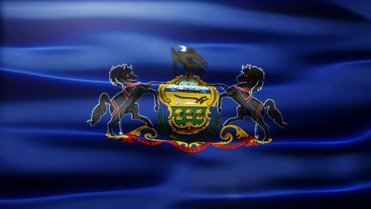 Pennsylvania Flag: Stock Motion Graphics