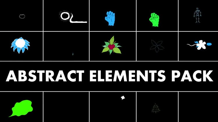 Abstract Elements Pack: Motion Graphics