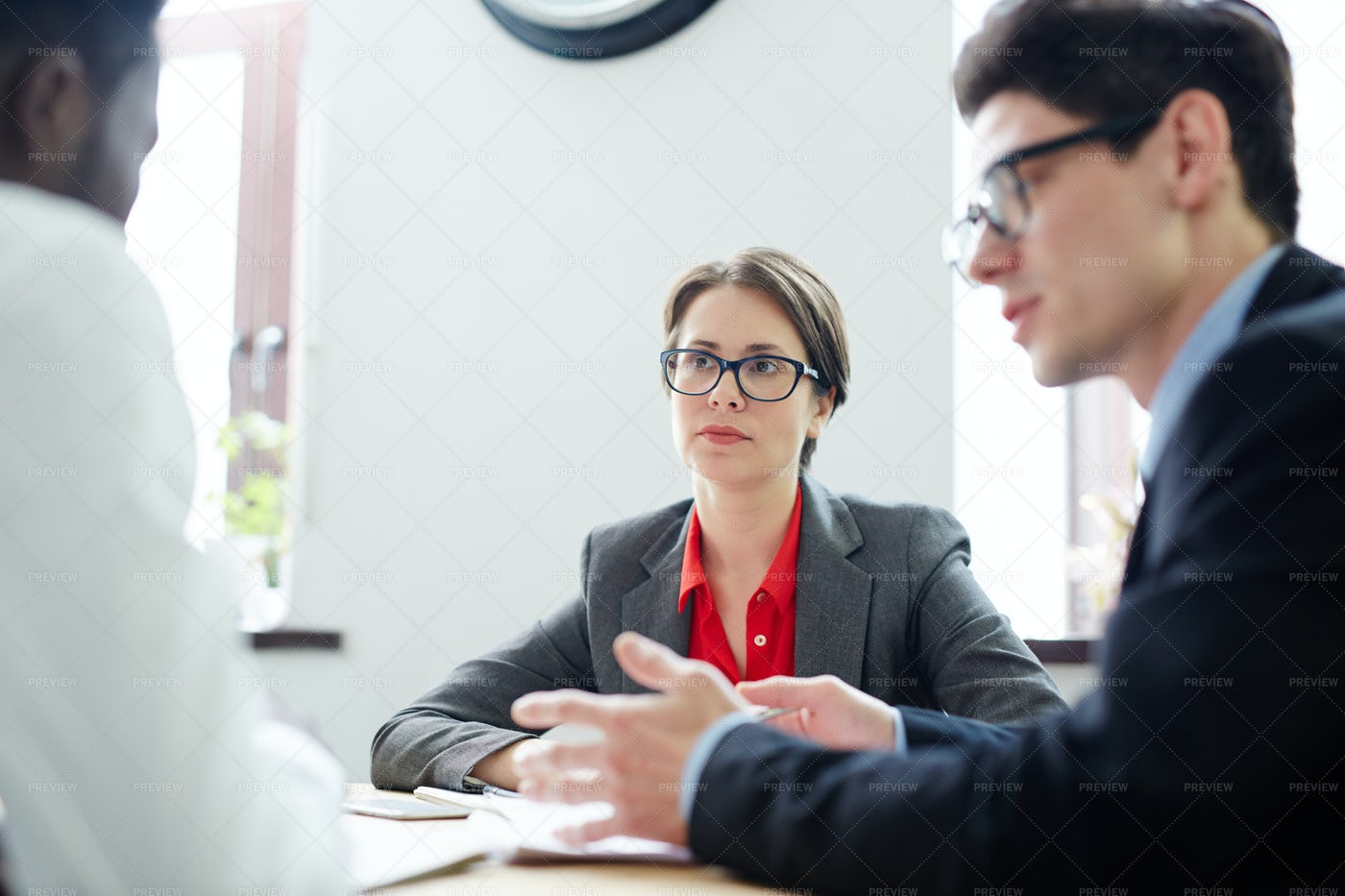 Listening To Applicant: Stock Photos