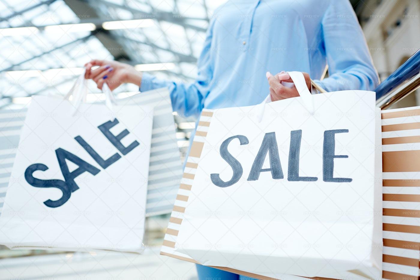 Sale Paperbags: Stock Photos