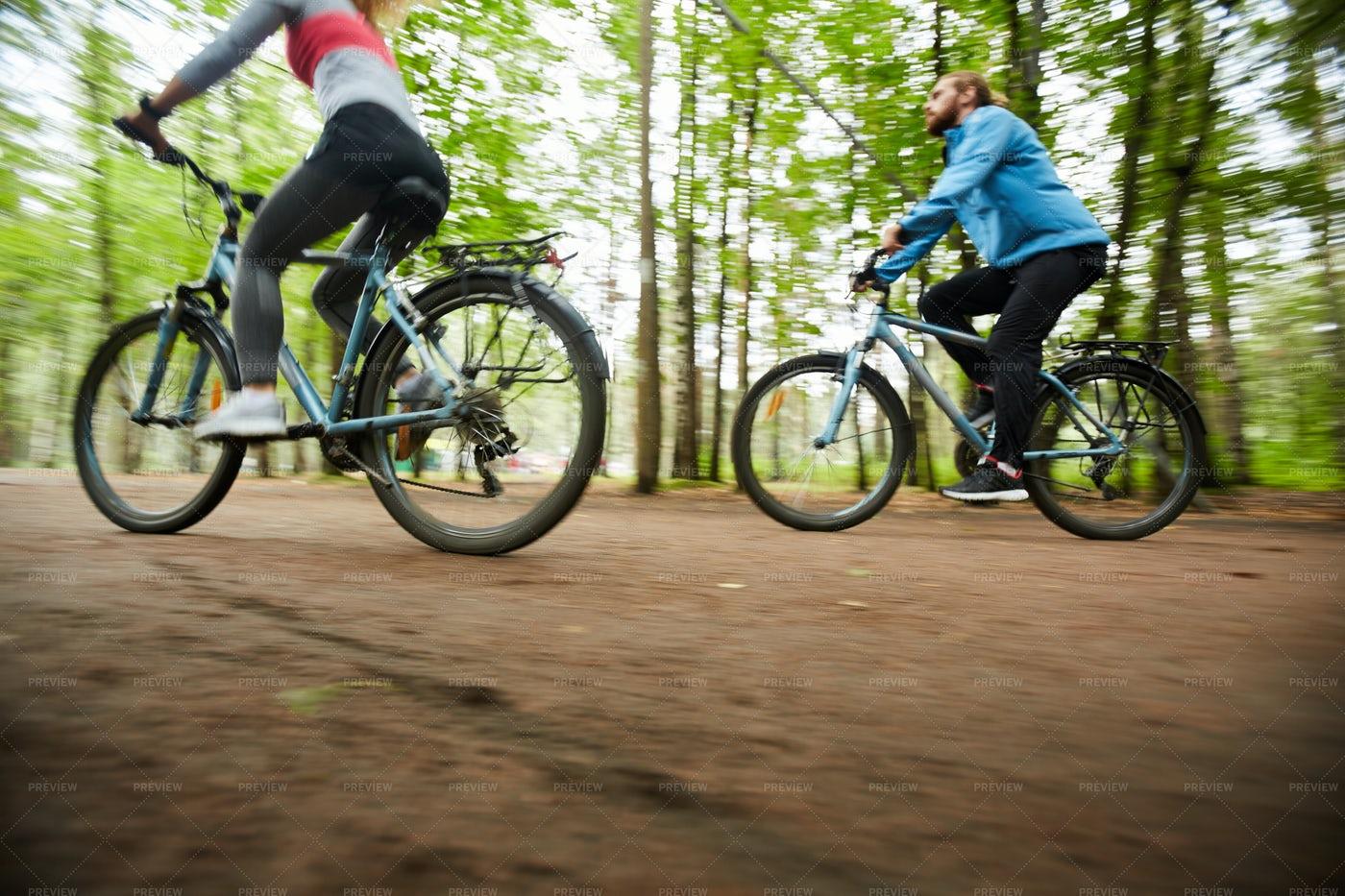 Couple On Bikes: Stock Photos