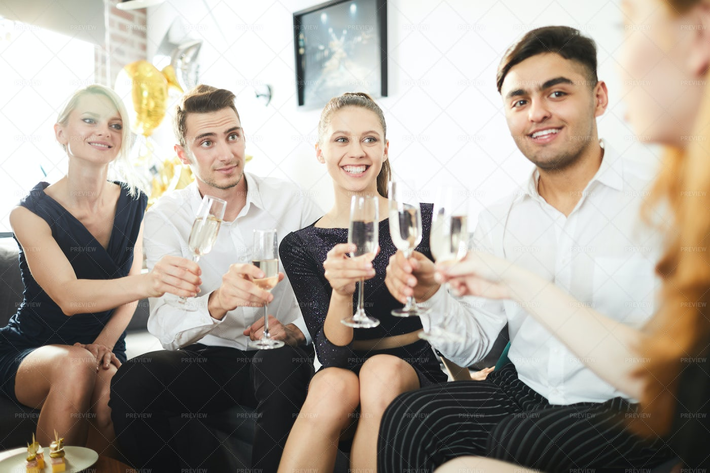 Party Of Friends: Stock Photos