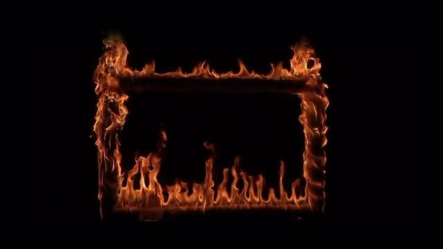 Frame On Fire: Stock Video