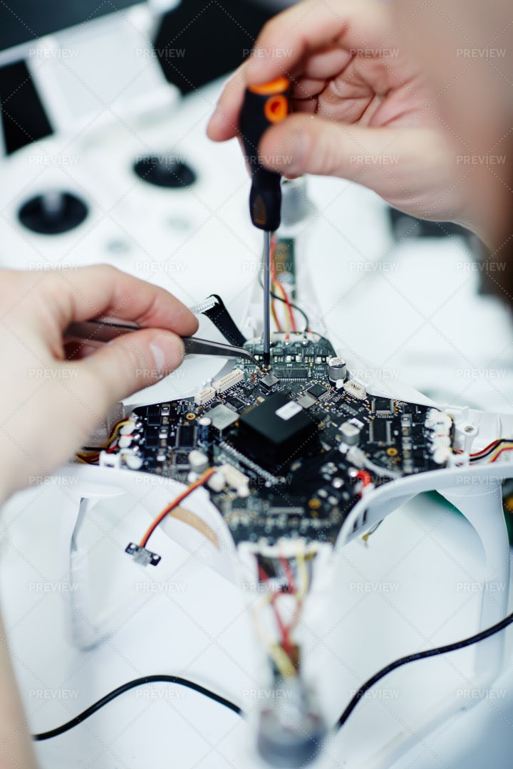 Assembling Spy Drone: Stock Photos