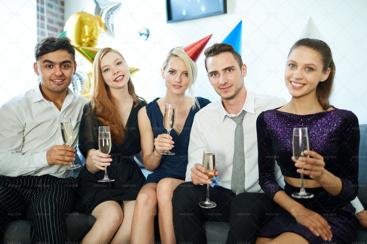 Party At Home: Stock Photos