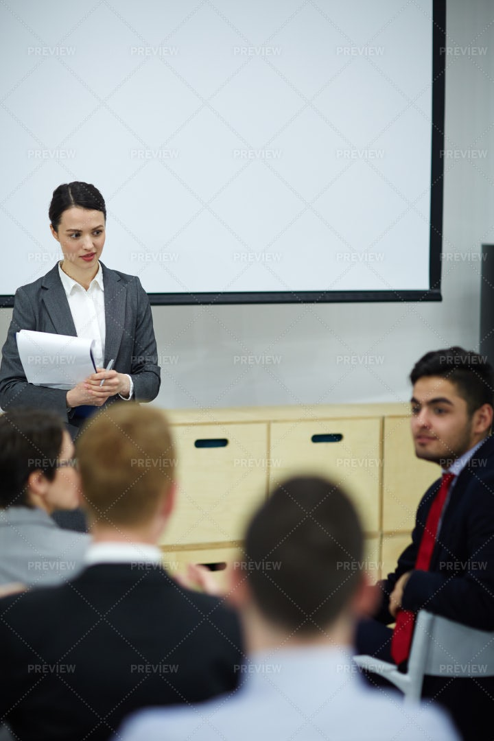 Speaker And Audience: Stock Photos