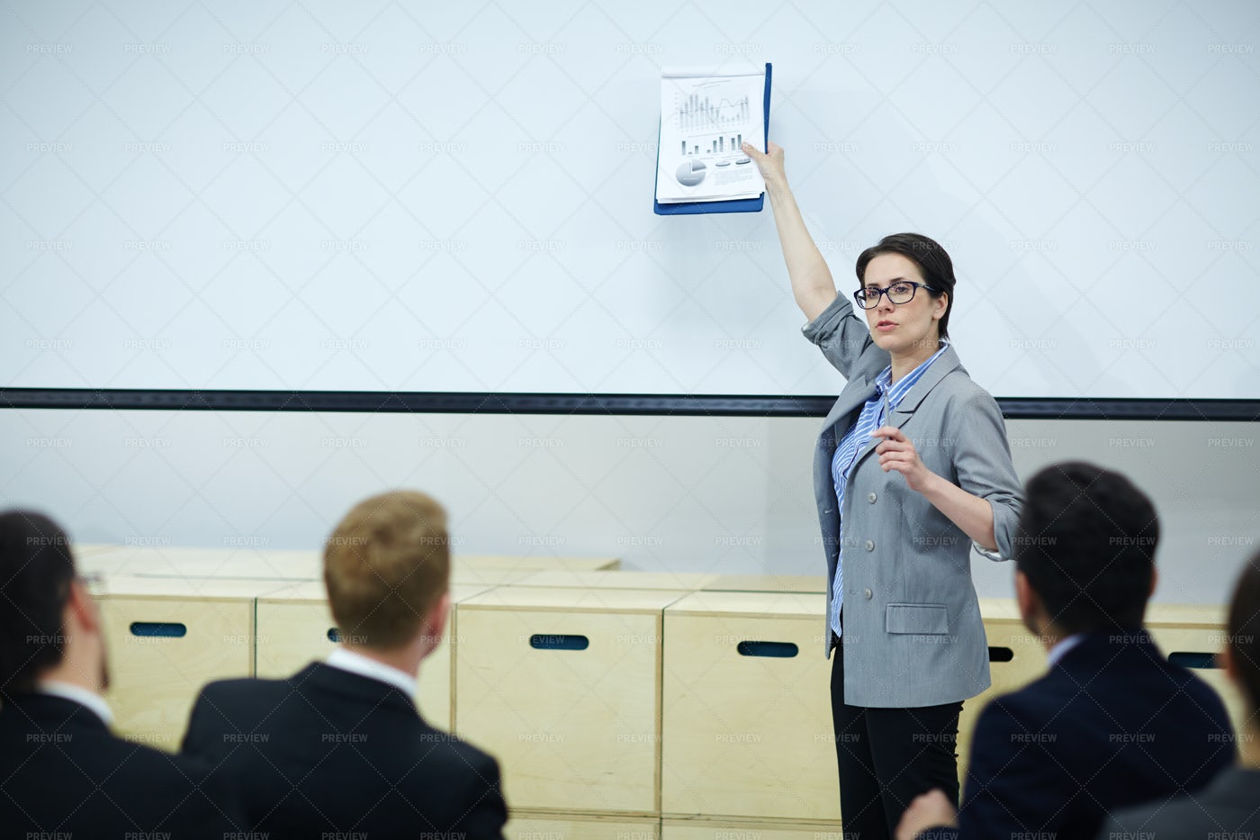 Seminar Of Brokers: Stock Photos