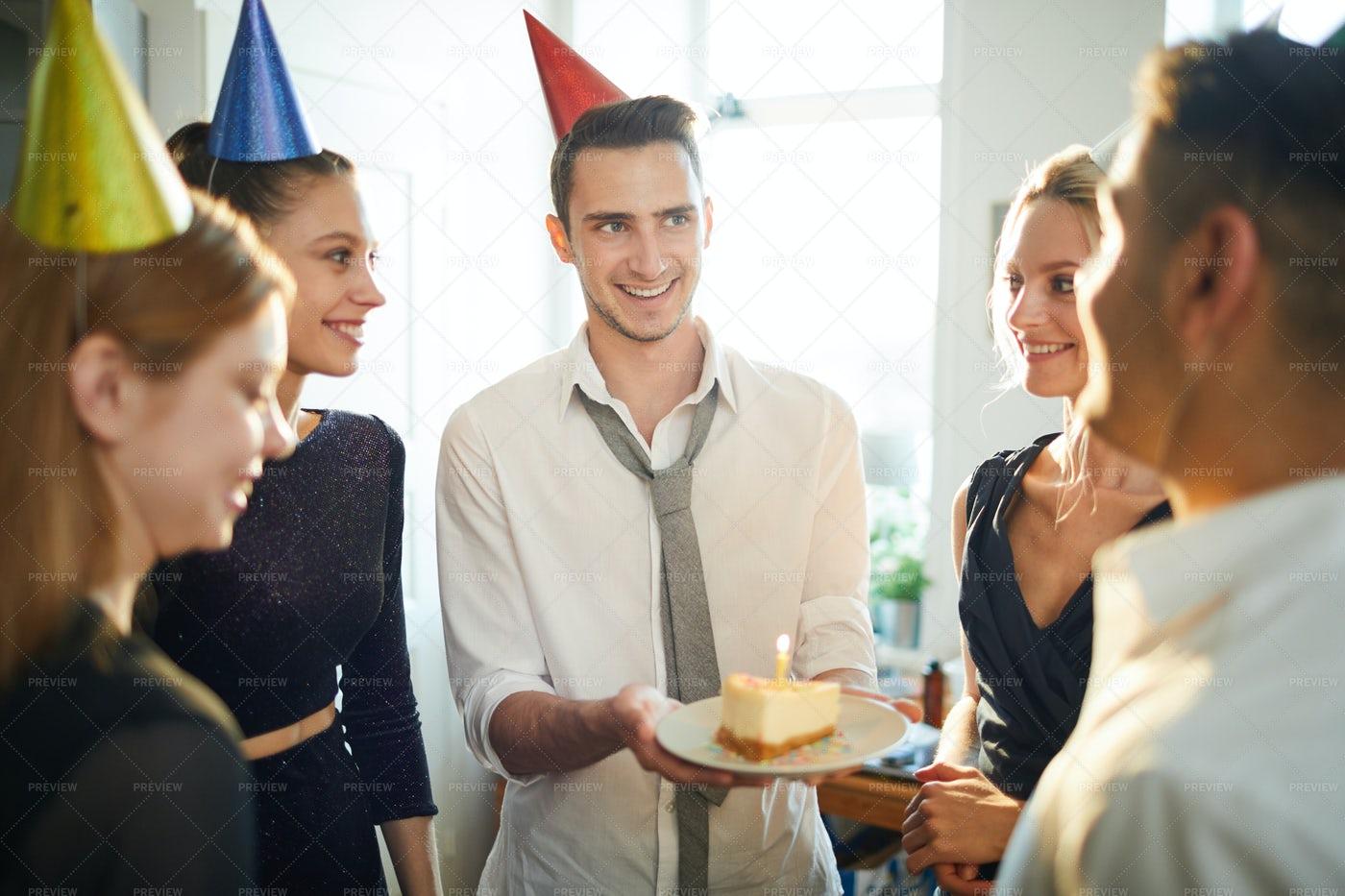 Cake For Friend: Stock Photos