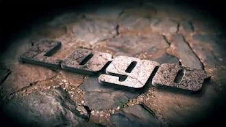 3D Metallic Stone Logo Reveal: After Effects Templates