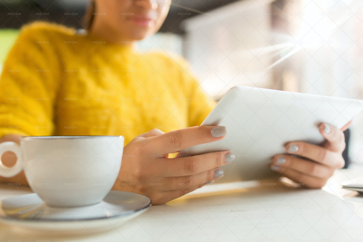 Browsing By Cup Of Tea: Stock Photos