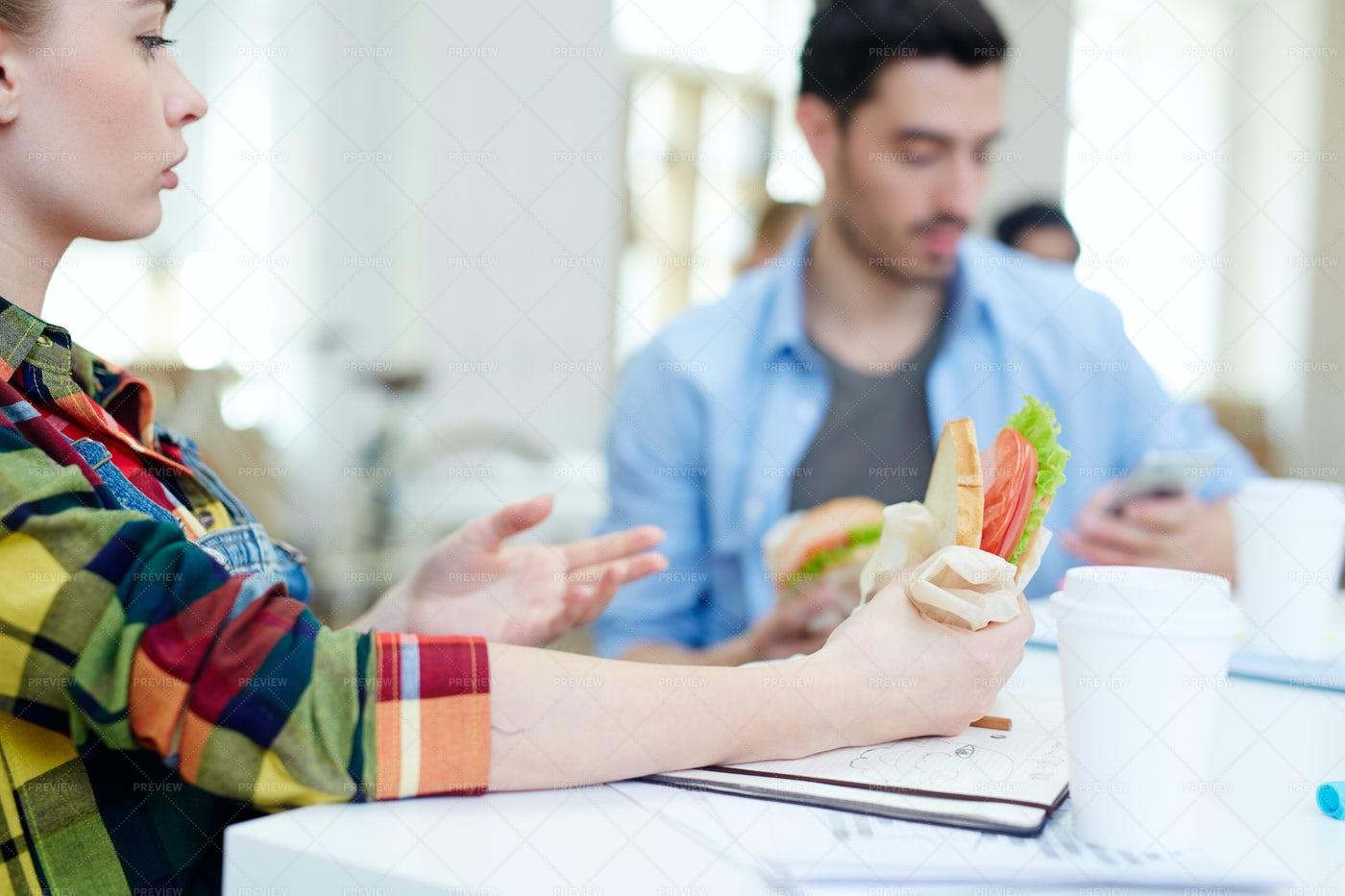 Having Sandwich: Stock Photos