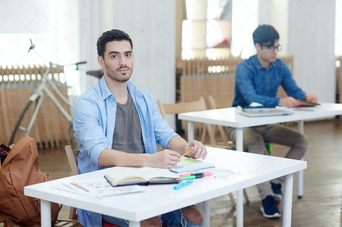 Concentrating On Task: Stock Photos