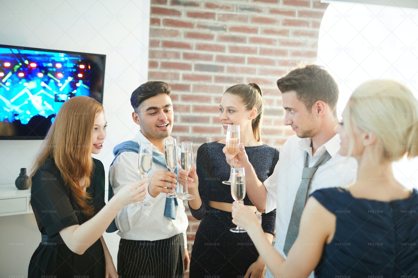 Toasting At Party: Stock Photos
