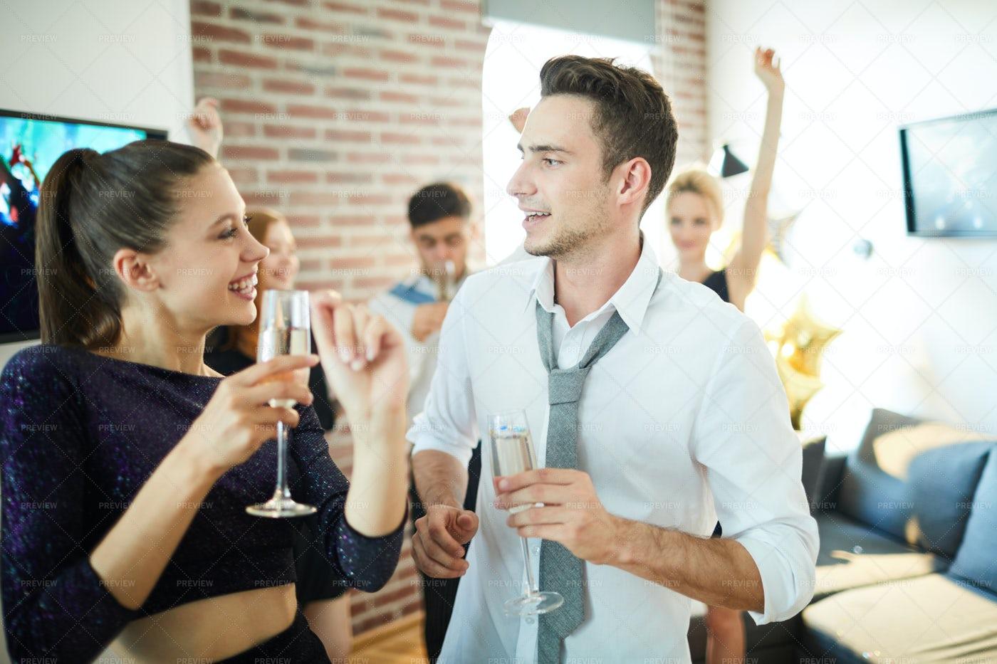 Talking While Dancing: Stock Photos