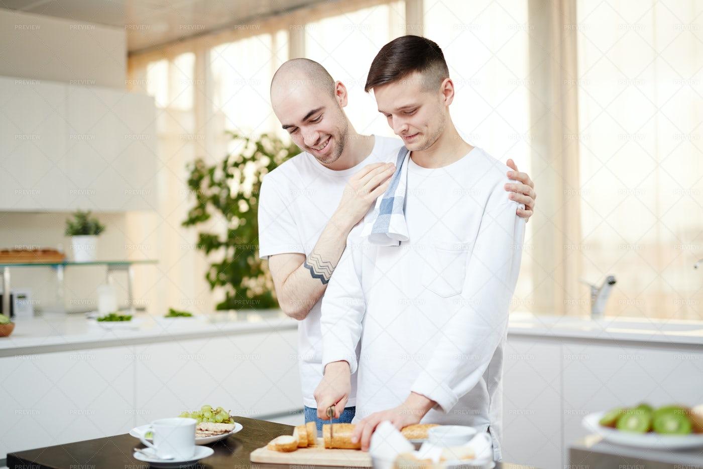 Men In The Kitchen: Stock Photos