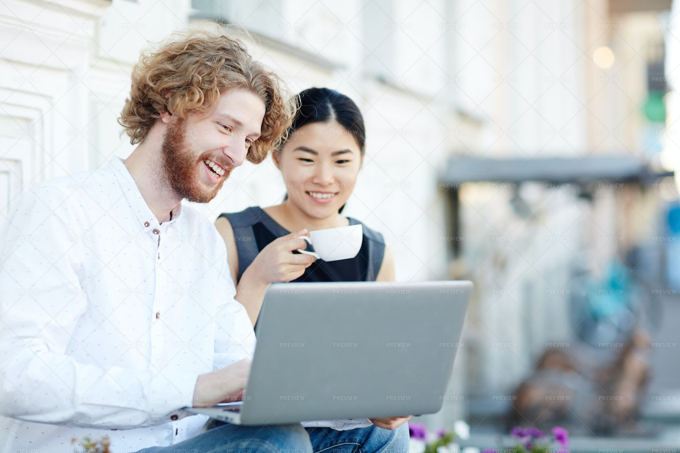Networking Outdoors: Stock Photos