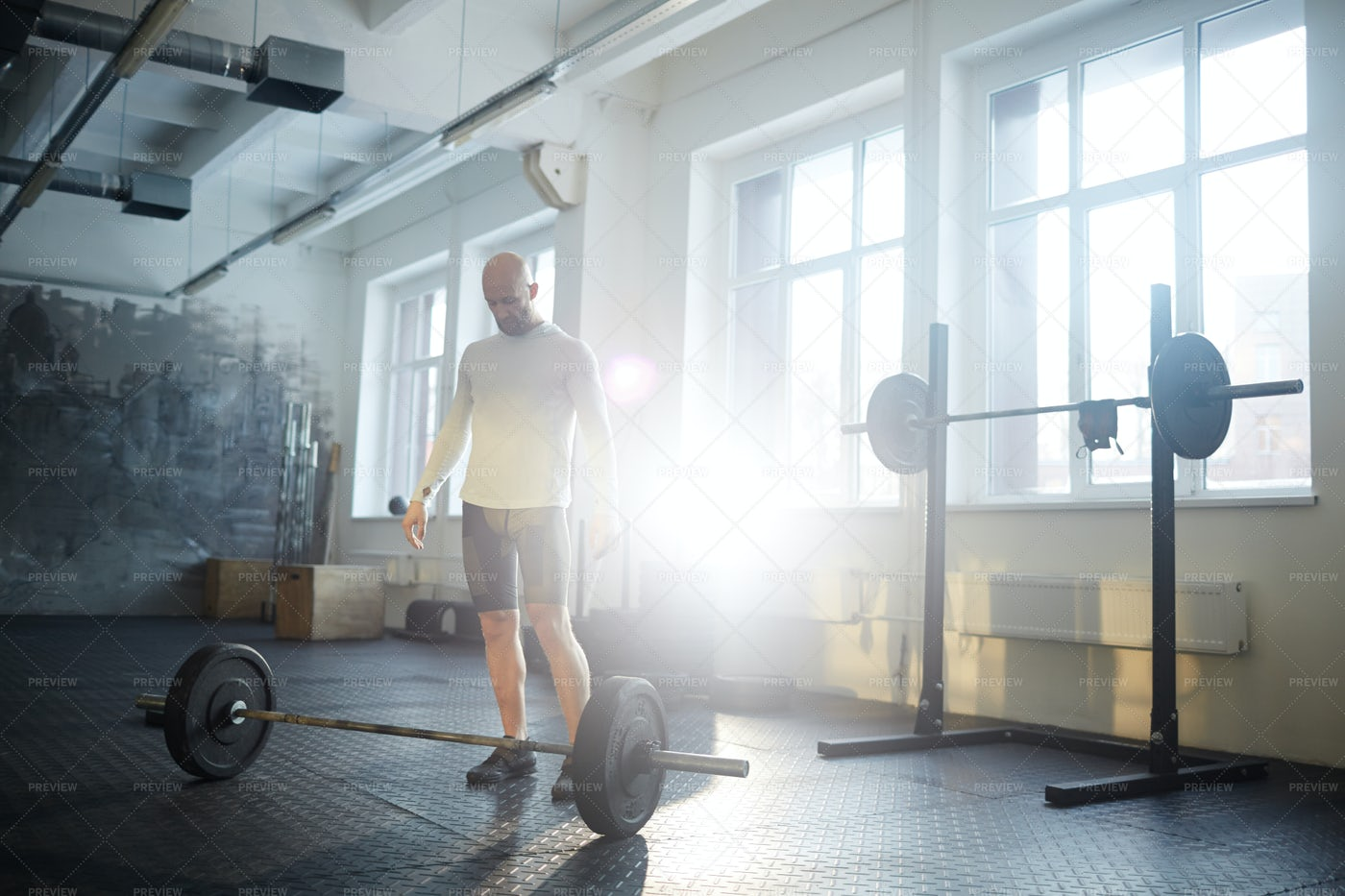 Man In Weightlifting Workout: Stock Photos