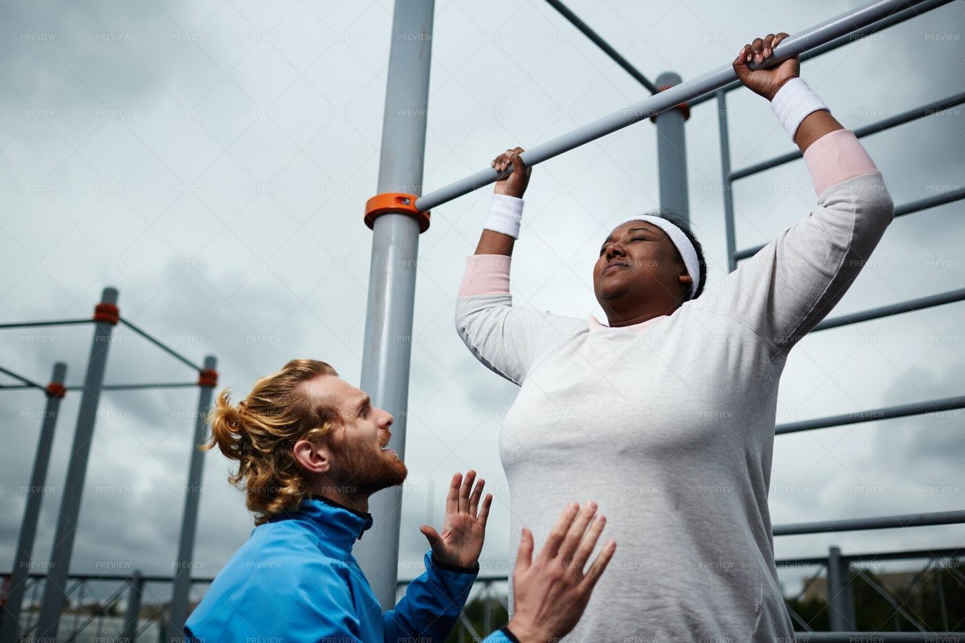 Exercising On Bars: Stock Photos