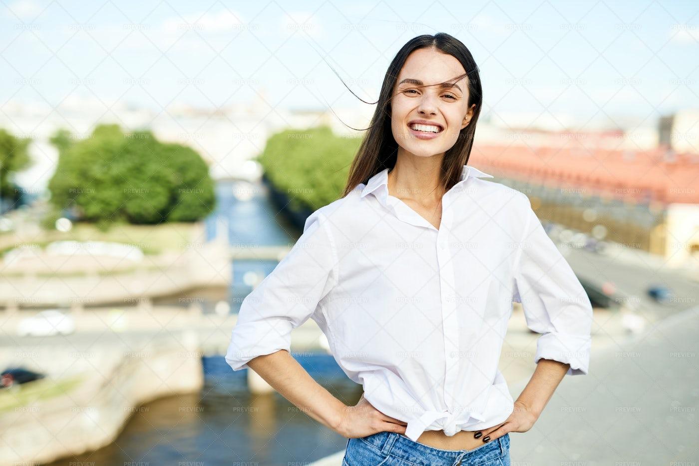 Cheerful Woman: Stock Photos