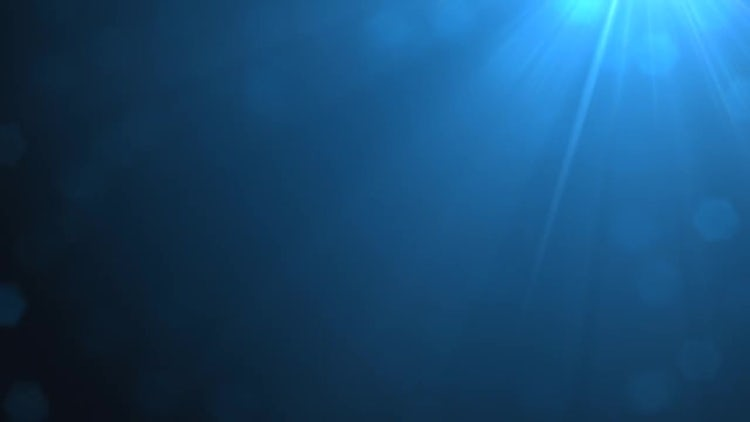 Blue Glints In Light: Stock Motion Graphics