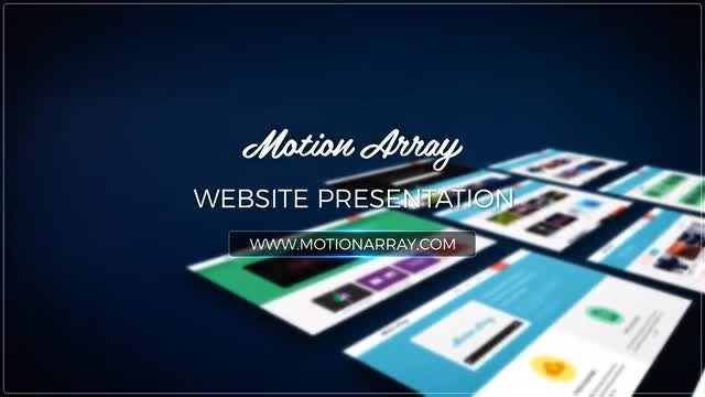 website presentation after effects templates motion array