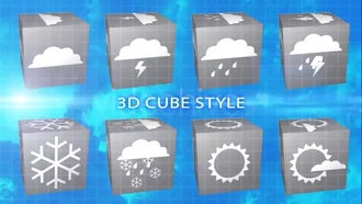 Weather Broadcast Icons: Motion Graphics
