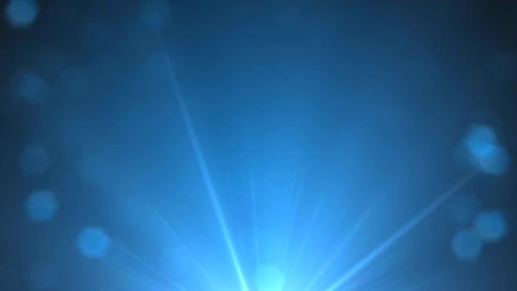 Rising Blue Glints: Stock Motion Graphics
