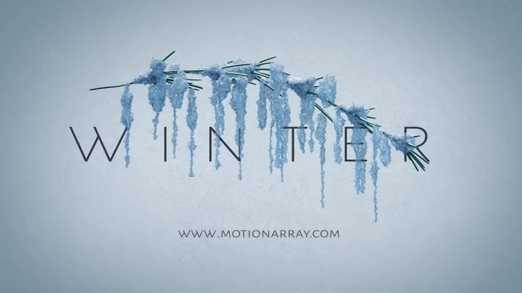 Winter Abstract Opener: After Effects Templates