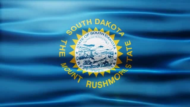 South Dakota Flag: Stock Motion Graphics