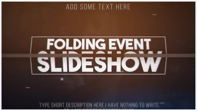 Folding Slideshow: After Effects Templates
