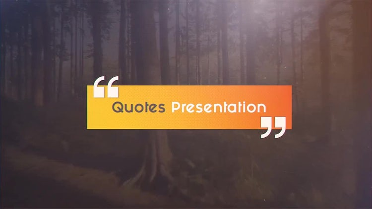 Quotes Presentation: After Effects Templates