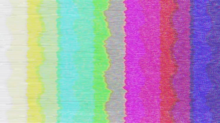 Old TV Color Bars: Stock Motion Graphics