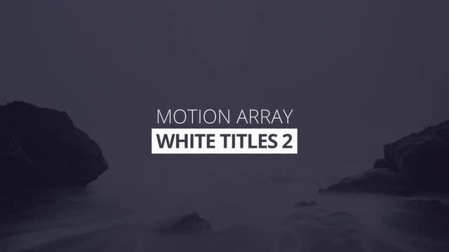 White Titles 2 4k: Premiere Pro Templates