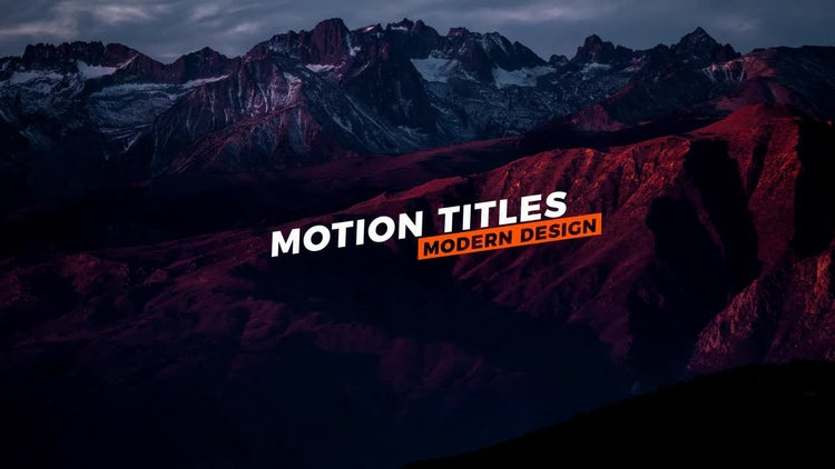 20 Modern Titles: After Effects Templates