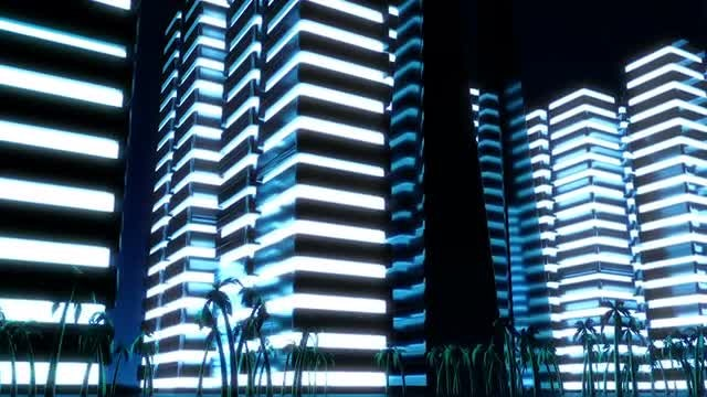 Night Metropolis: Stock Motion Graphics