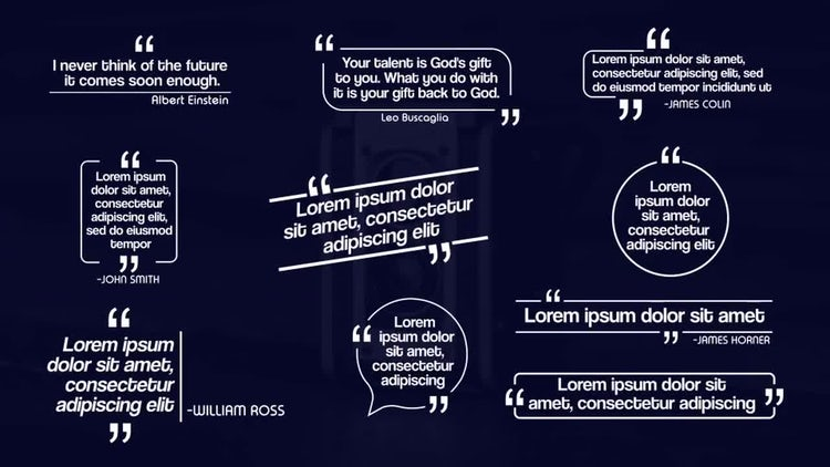 Quotes Title Pack: After Effects Templates