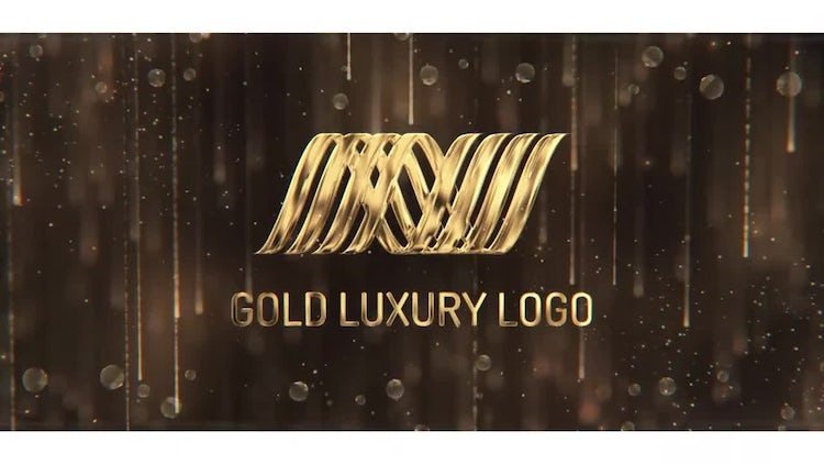 Gold Luxury Logo: After Effects Templates