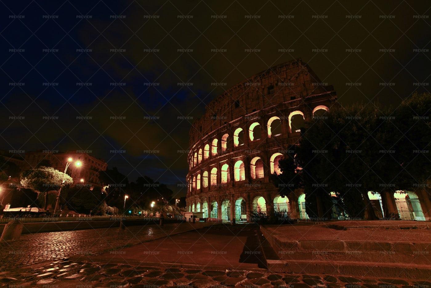 Coloseum At Dusk: Stock Photos