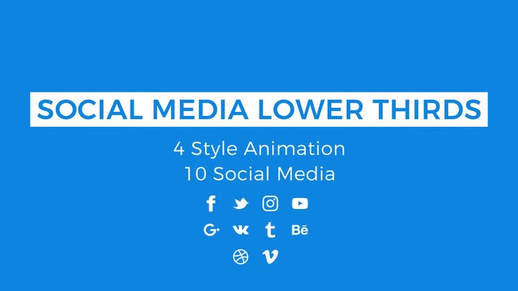 Social Media Lower Thirds: Motion Graphics Templates