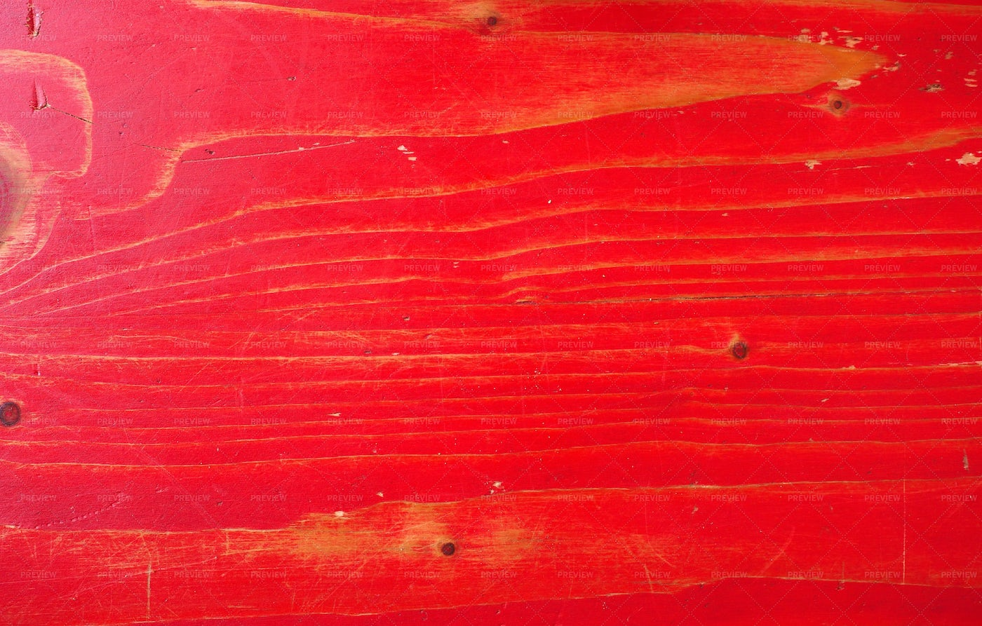 Worn Red Painted Wood: Stock Photos