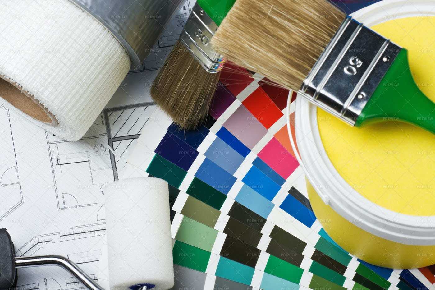 Tools For Painting: Stock Photos