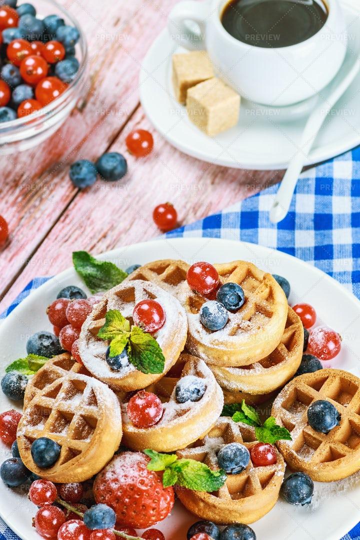 Colorful Waffles: Stock Photos