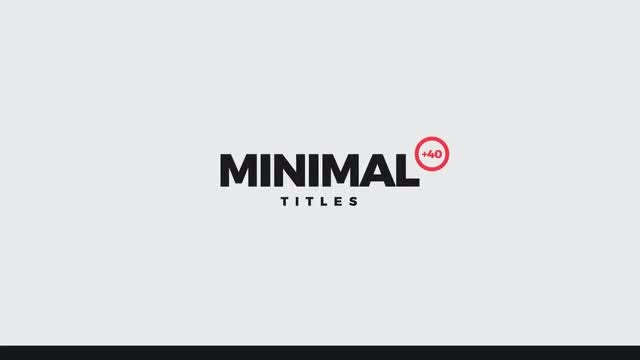 Minimal Titles +40: After Effects Templates