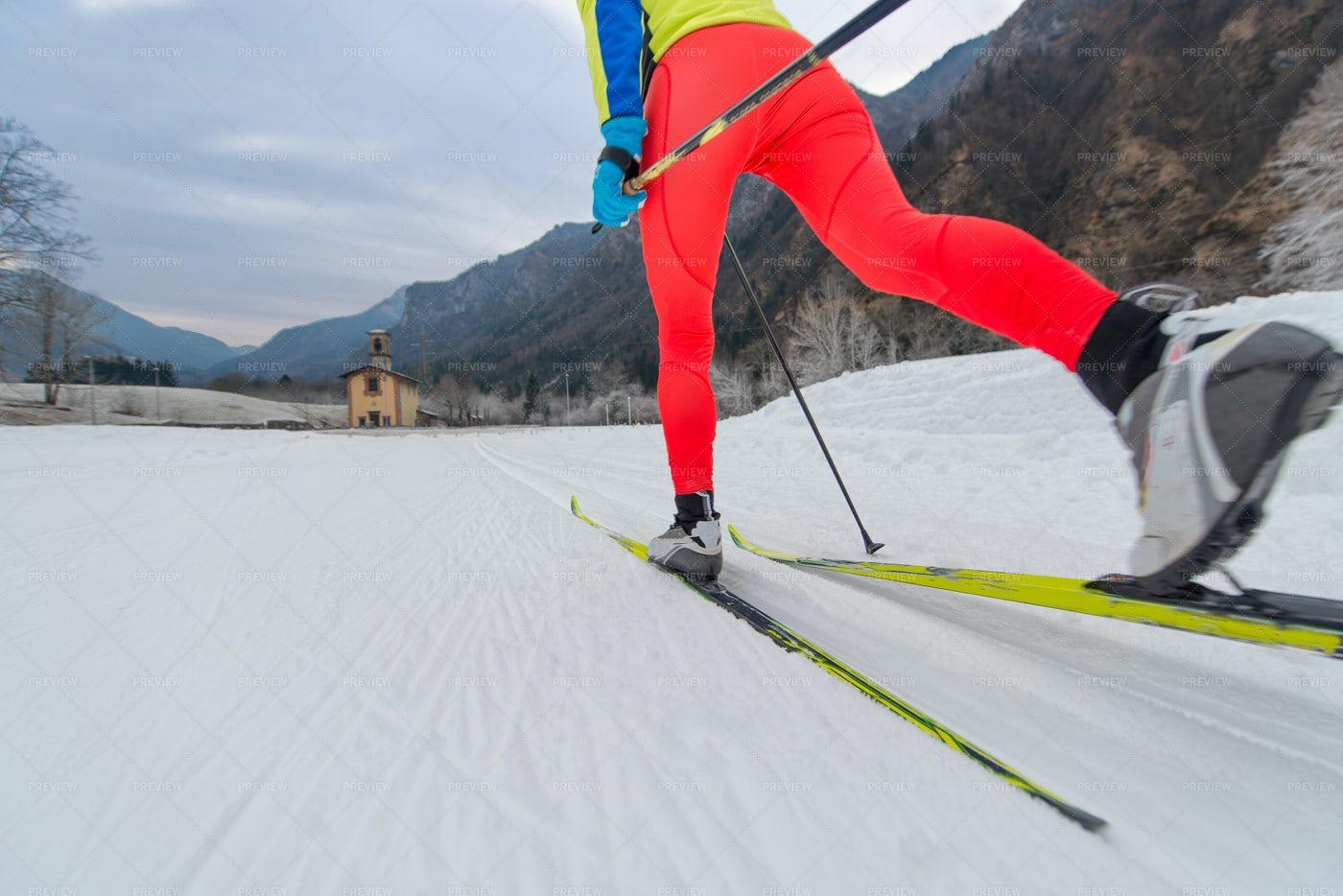 Cross-Country Skiing: Stock Photos