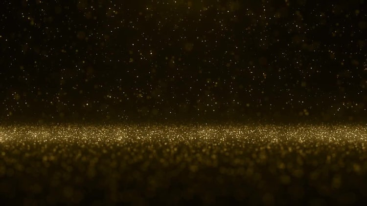 Falling Gold Particles: Motion Graphics