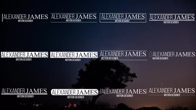 12 Lower Thirds: After Effects Templates