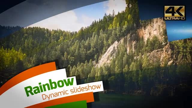 4k Dynamic Rainbow Slideshow: After Effects Templates