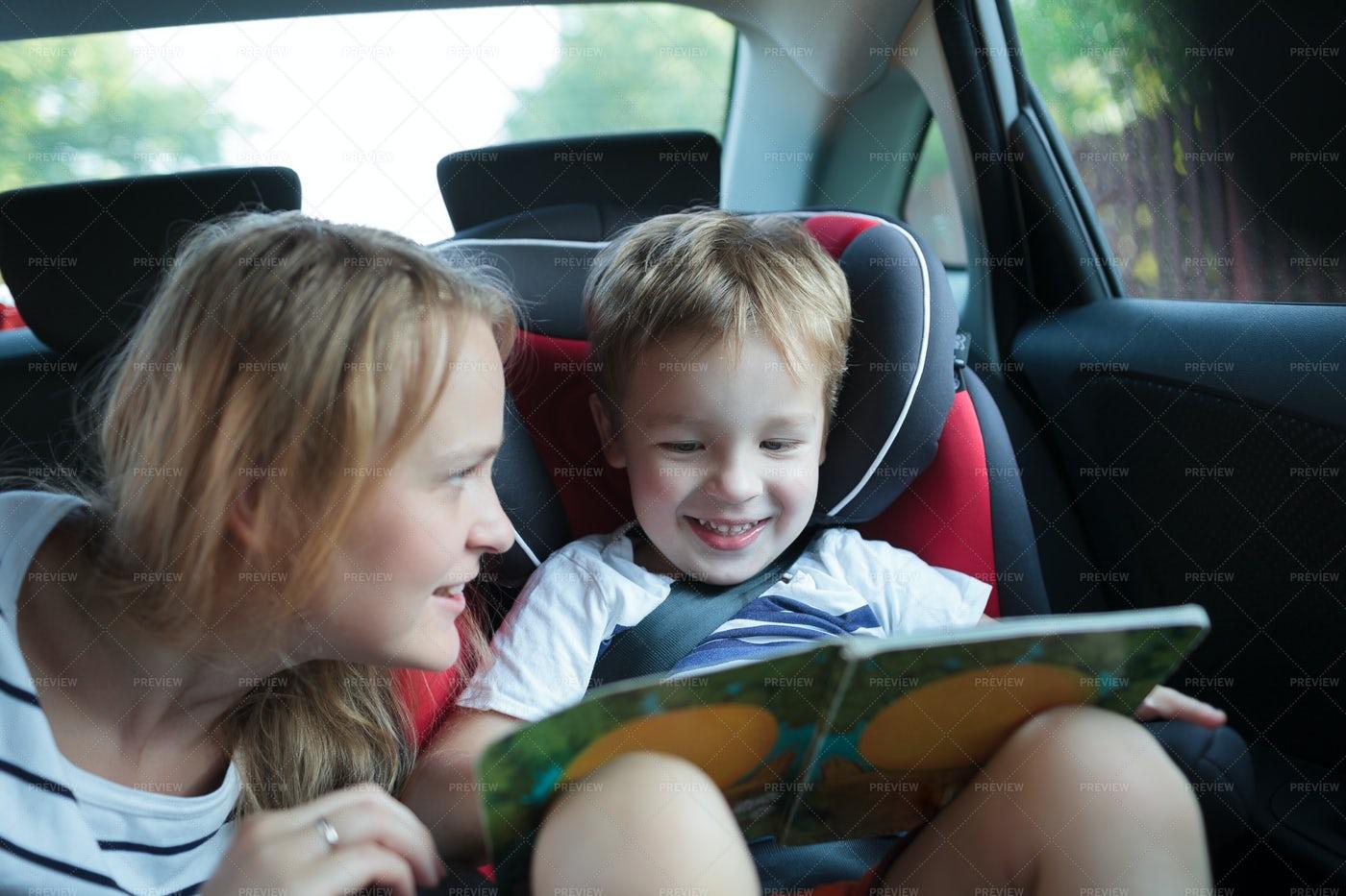 Boy Reads A Book: Stock Photos
