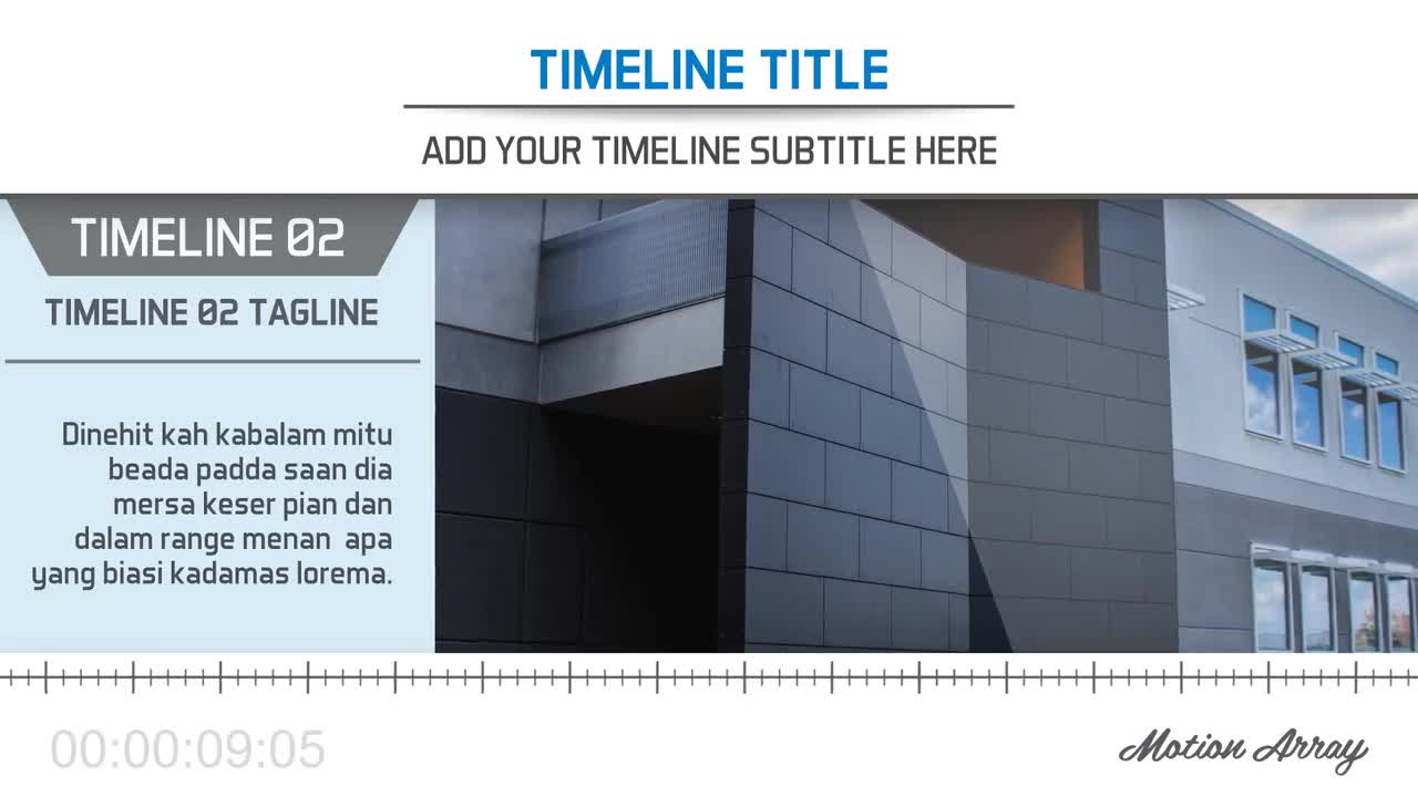 The Timeline After Effects Templates Motion Array